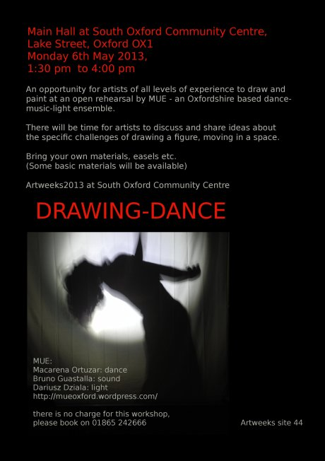drawing dance workshop 2013
