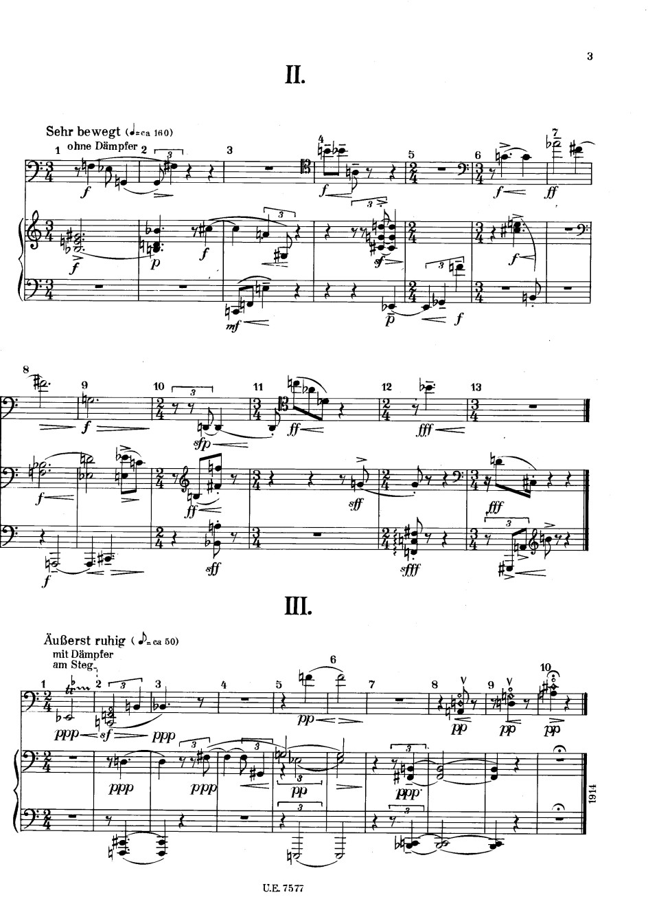three pieces Webern II